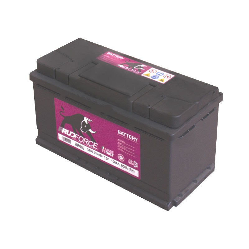 Battery 100 Ah 760 A +RH (code RB002)